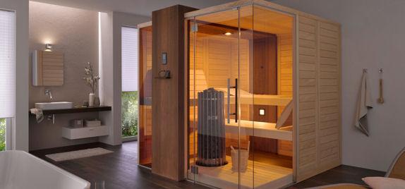 Nuova cabina sauna EDGE di helo Eurotrias
